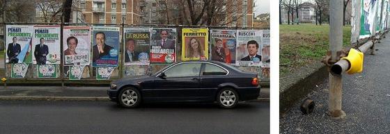 ~dá~: Politikai plakáthely Olaszországban