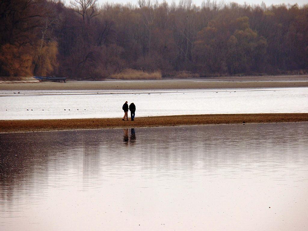 Megbeszélés a tó közepén